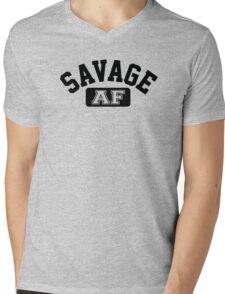 SAVAGE - AF (Black) Mens V-Neck T-Shirt
