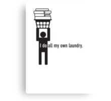 I do all my own laundry. Canvas Print