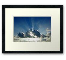 Sky Burst Framed Print