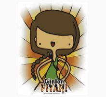 Girl on FIYAH! *STICKER* by burntbreadshirt