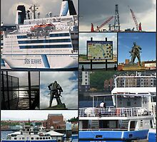 Port of Tyne Nautical Collage by kathrynsgallery