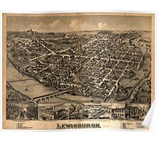 Panoramic Maps Lewisburgh Poster