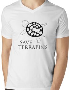Save Terrapins Mens V-Neck T-Shirt