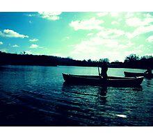Canoeing, Norfolk Broads Photographic Print