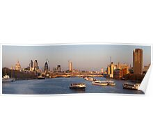 Life on the River Thames (panoramic) Poster