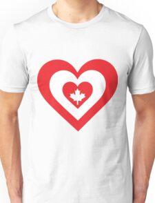 Canada Heart Unisex T-Shirt