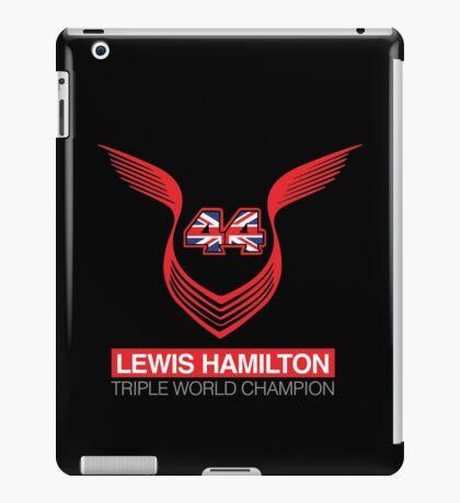 Lewis Hamilton Triple World Champion (red) iPad Case/Skin
