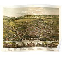 Panoramic Maps North Adams Mass Poster