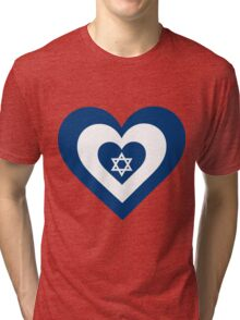 Israel Heart Tri-blend T-Shirt