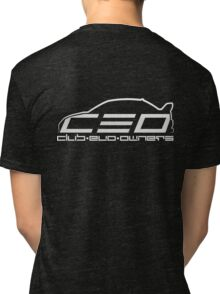 Club Evo Owners - Regular Logo (White) Tri-blend T-Shirt