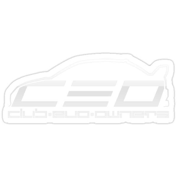 Club Evo Owners - Regular Logo (White) by James Love