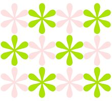 Green and Pink Design Photographic Print