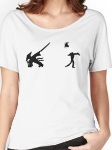 Samurai Versus Zombie - Silhouette Women's Relaxed Fit T-Shirt