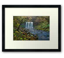 Fall and river  Framed Print