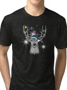 Christmas deer Tri-blend T-Shirt