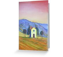 Tuscany church Greeting Card