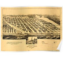Panoramic Maps Bird's eye view of Asbury Park New Jersey 1881 Poster