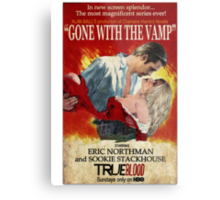 True Blood - Gone With the Vamp (Eric and Sookie) Metal Print