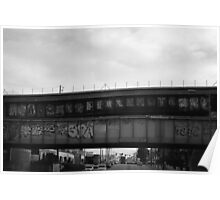 Bombed bridges.  Poster