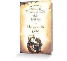 To The End of the Line - [A Scribble] Greeting Card
