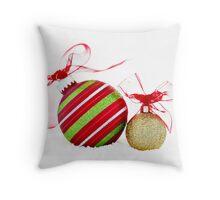 Christmas Ornaments Balls Contemporary Throw Pillow