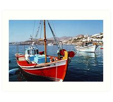 CAIQUES, MYKONOS, GREEK ISLANDS.........! Art Print