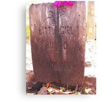 little girl lost Canvas Print