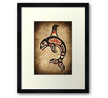 Red and Black Haida Spirit Killer Whale Framed Print
