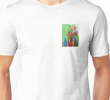 Antique Bottles and Flowers Unisex T-Shirt