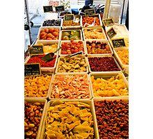Antibes food market Photographic Print