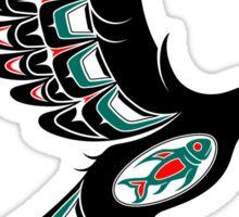 Red and Green Haida Spirit Flying Bird Sticker