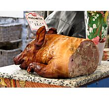 pork at the Antibes market Photographic Print