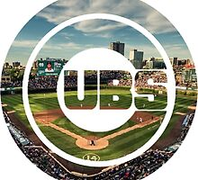 Chicago Cubs Stadium Logo by Jacob Sorokin