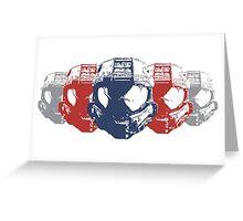 Video Game Helmets Greeting Card