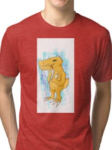 Agumon ate something cute Tri-blend T-Shirt