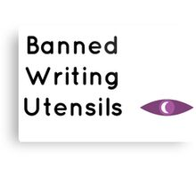 """Welcome To Night Vale """"Banned Writing Utensils"""" Metal Print"""