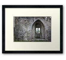 Wistful Window Framed Print