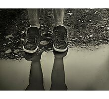 Too Big to Splash in Puddles... Photographic Print