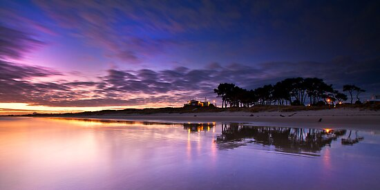 Papamoa surf club pre dawn by Ken Wright