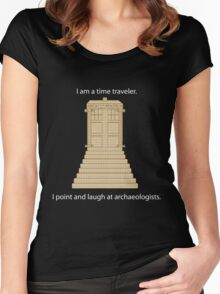 Time Travel (white) Women's Fitted Scoop T-Shirt