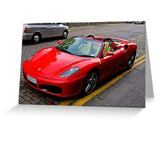 Ferrari drivers can park where they like Greeting Card
