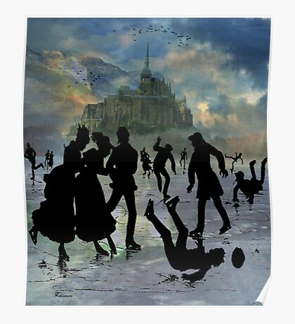 FUN AT ICE POND Poster