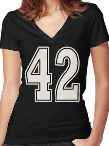 42 For Dark Women's Fitted V-Neck T-Shirt