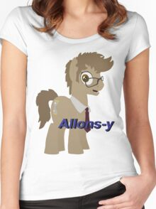 10th Doctor Whooves Women's Fitted Scoop T-Shirt