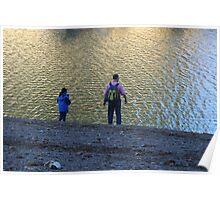 Enjoying the Lake Poster