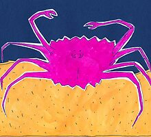 a crab with hairy armpits by maybemary