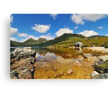 Cradle Mountain and Boathouse, Tasmania Australia Canvas Print