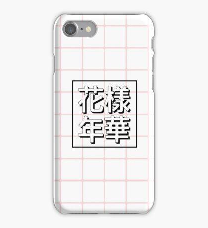 BTS album cover pink grid iPhone Case/Skin