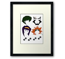 Cowboy Bebop faces Framed Print