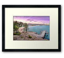 Horse Shoe Bay Sunet Framed Print